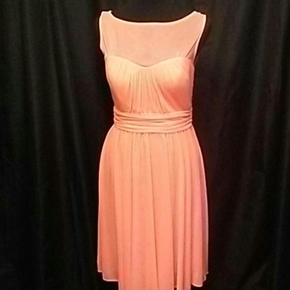 David's Bridal Dresses & Skirts - David's Bridal Orange/Peach Short Dress